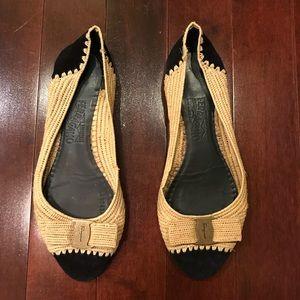 Salvatore Ferragamo Round Toe Flats Shoes Size 8